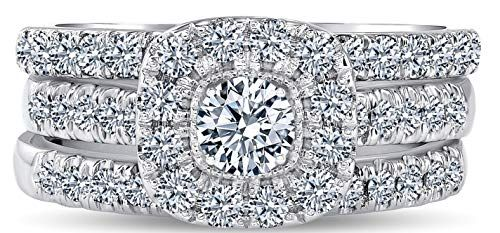 1 Carat Diamond Engagement Ring Igi Certified 14 Karat White Gold Diamond Ring For Women In 2020 Diamond Engagement Rings Womens Engagement Rings Diamond Engagement