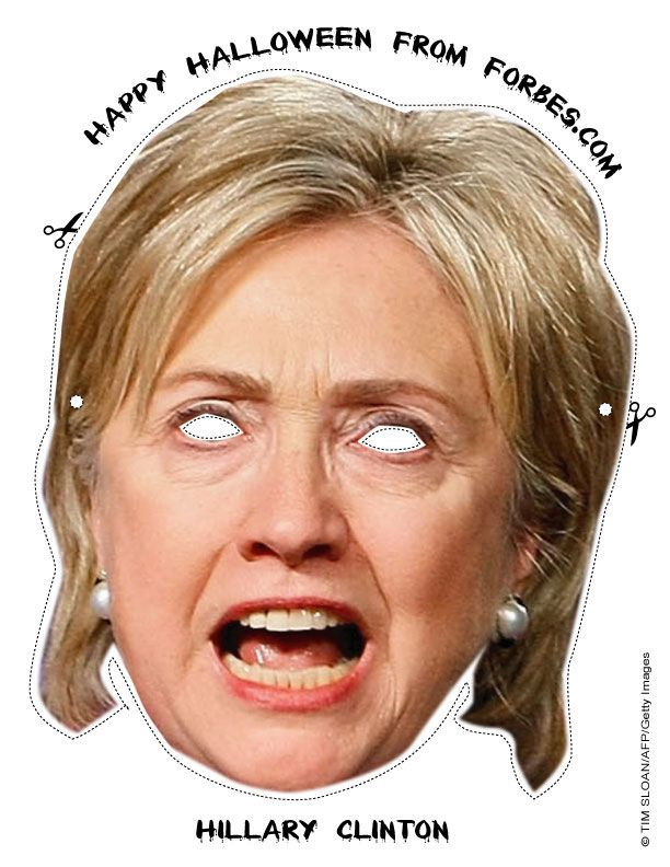 Its that Time again Halloween Elections in USA print out this great scary Hillary Mask for your child and prepare to be Terrified