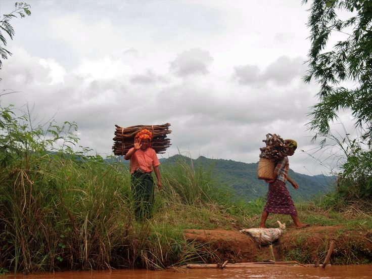 They have oxen for carrying don't they? Of course they do but first you must be able to afford one. The women carry the burden from the forest to their hut. In the 21st century they must do what they must in order to survive. Such a beautiful and simple way of life…