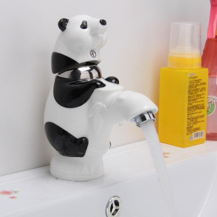 The Children Bathroom Cartoon Panda Ceramic Basin Mixer