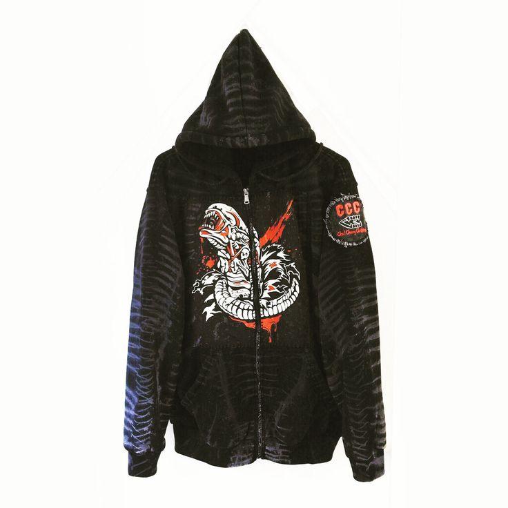 xenomorph hoodie chadcherryclothing