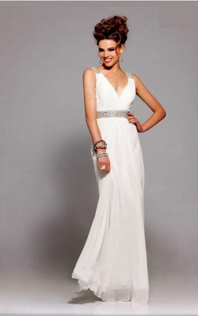 Sleeveless Backless Deep V-neck Floor-length Chiffon Evening Dresses d130622292