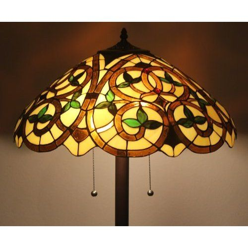 com Tiffany Style Stained Glass Floor Lamp English Ivy w/ 20 Shade