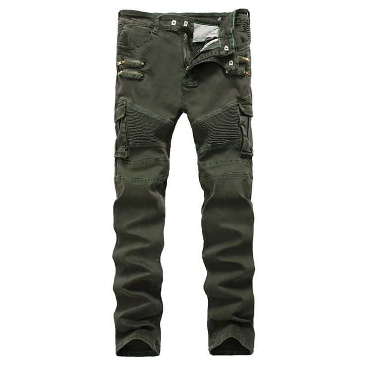 ==> [Free Shipping] Buy Best European American style Jeans High Quality Elasticity Denim Trousers Mens Jeans Army green Light green Pants skinny jeans men Online with LOWEST Price | 32818498325