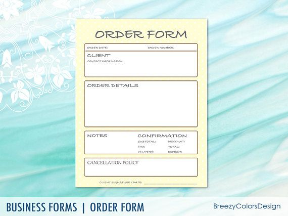 30 Best Order Form Templates Images On Pinterest | Marketing Ideas