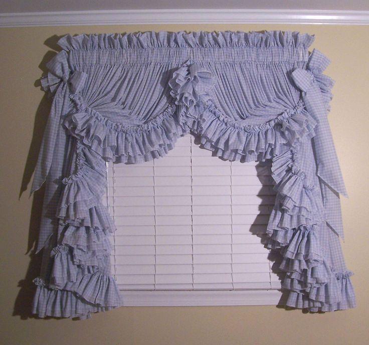 Ruffled curtains for a dreamy look | Drapery Room Ideas