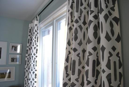 DIY stenciled curtains DIY Curtains DIY Home DIY Décor, These are great and can be done easily!