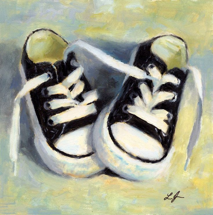 nike shoes green boys landscapes paintings in acrylic 920497
