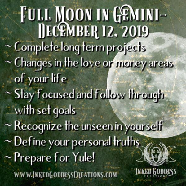 Full Cold Moon In Gemini December 12 2019 Full Moon In Pisces
