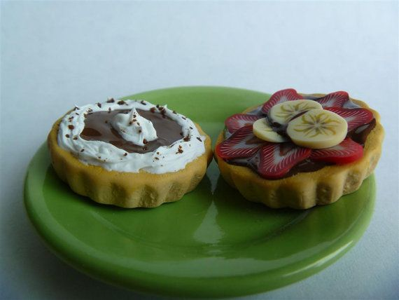 American Girl Doll Food/ Two Tarts/ 18 inch doll by MiniatureMenu, $8.00