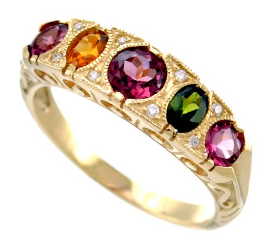 Lannah Dunn Unique Engagement Rings Multi- coloured, natural, gemstones set in the LDdesigns!