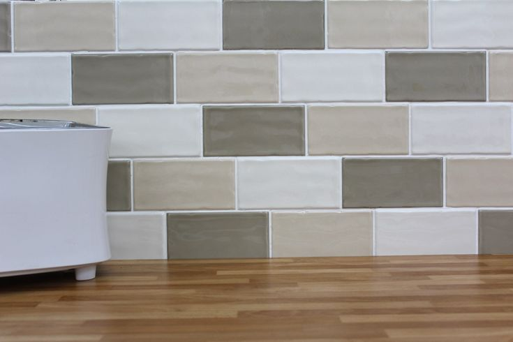 The hampton range features tiles which are - Kitchen without wall tiles ...