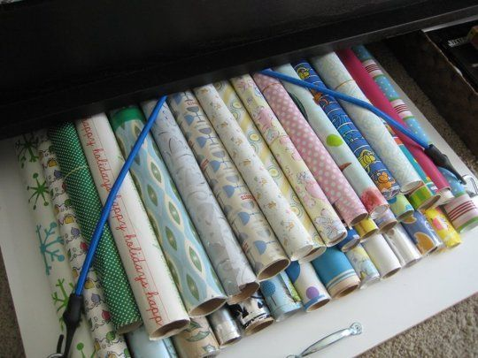Think Under The Bed Wrapping Paper Storage