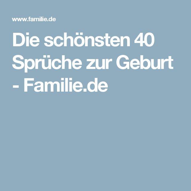 Die schönsten 40 Sprüche zur Geburt - Familie.de