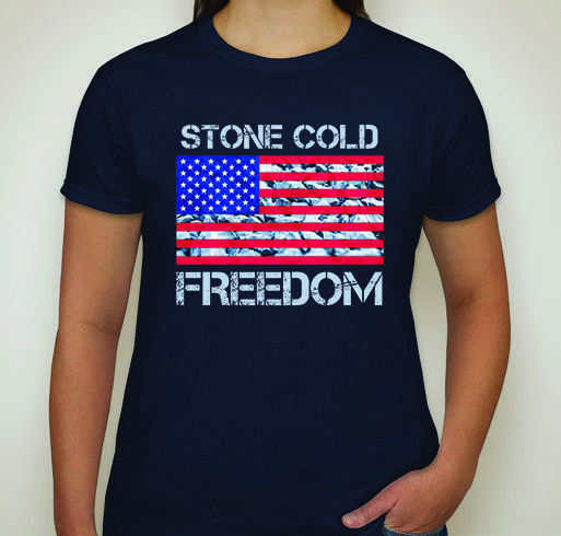 SCF | Stone Cold Freedom | Patriotic Women's T-Shirt | Navy