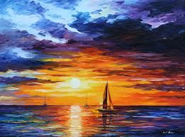 Image result for ocean horizon painting