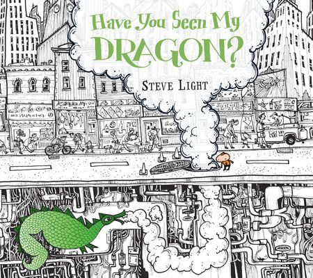 An interesting counting book that uses questions and statements to progress through the story. Finding the dragon is also great for the pre-reading visual discrimination.