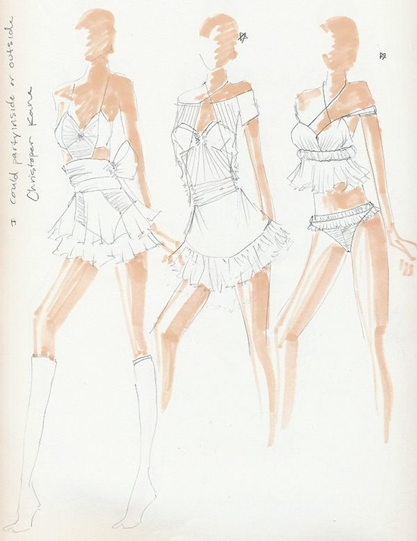 fashion sketchbook fashion sketches creative process fashion portfolio claire bushey