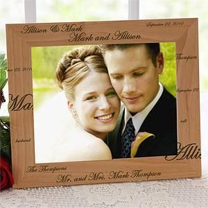 Personalized Wedding Picture Frames 8x10 : 17 Best images about Wedding Gifts on Pinterest Personalized wedding ...