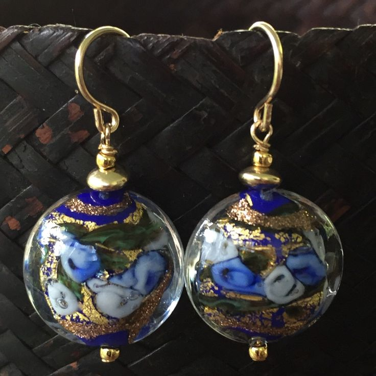 Another pair of Murano Bed of Roses ear wires
