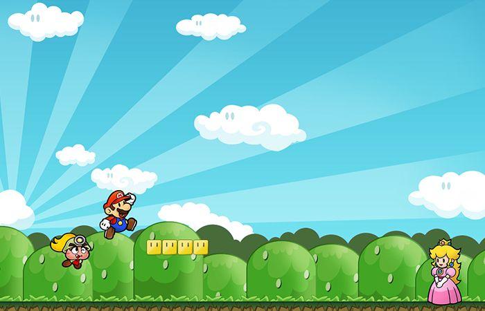 Super Mario Bros. é um jogo eletrônico lançado pela Nintendo em 1985. Considerado um clássico, Super Mario Bros. foi um dos primeiros jogos de plataforma com rolagem lateral, recurso conhecido em inglês como side-scrolling. O jogo é o mais vendido de toda a história dos videogames (contando-se aí os jogos vendidos junto com os consoles) com mais de 40 milhões de cópias e foi o principal responsável pelo sucesso inicial do console NES (Famicom, no Japão).
