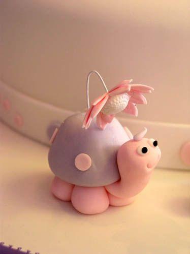 Cupcake Inspiration - Fondant Turtle Topper