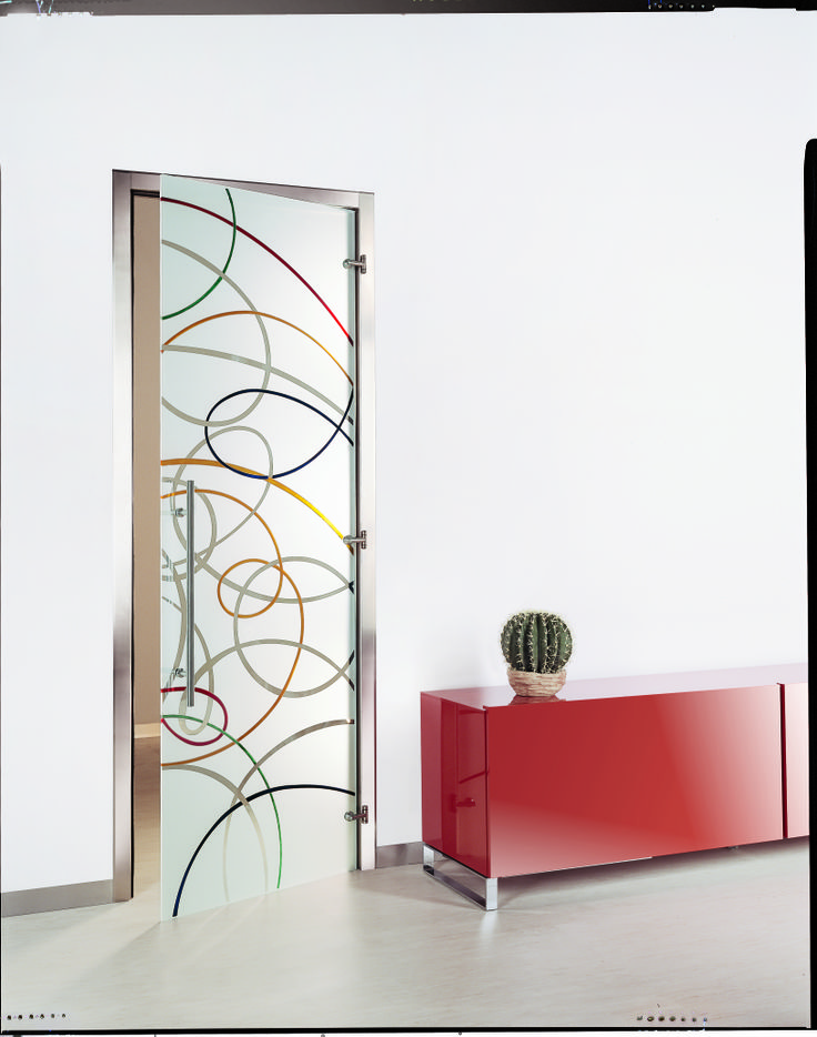 Aura Colorata Glass Interior Door By Casali Pictures