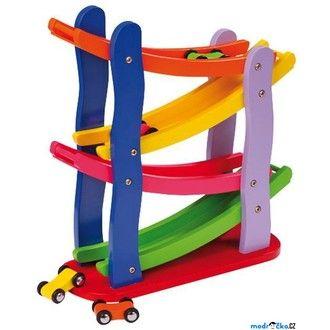 Dřevěné hračky - Tobogán - Závodní dráha (Legler)