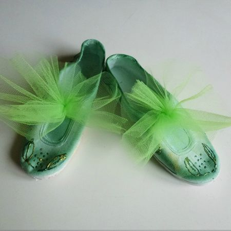 chaussons fée/ déguisement fée clochette ....suite...