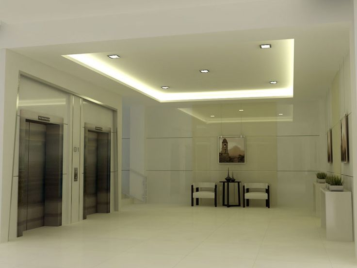 Ceiling foyer reimagined with concrete and stacked for Lobby ceiling design