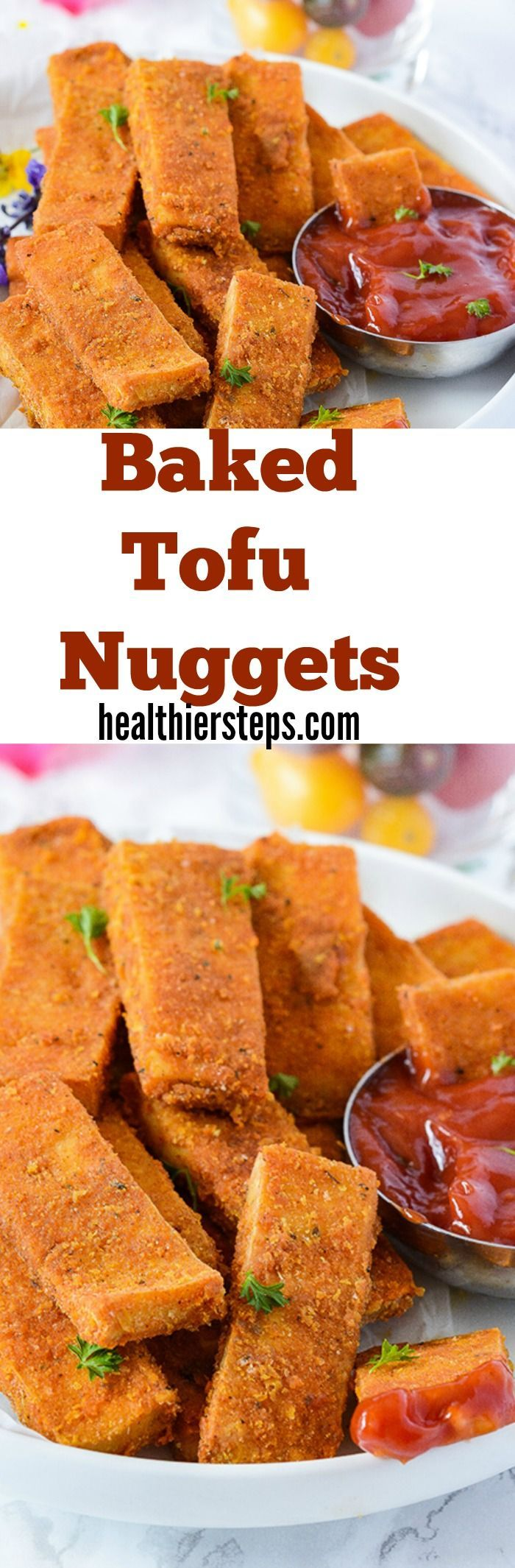Baked Tofu Nuggets-Full of flavor, crispy on the outside and moist on the inside!