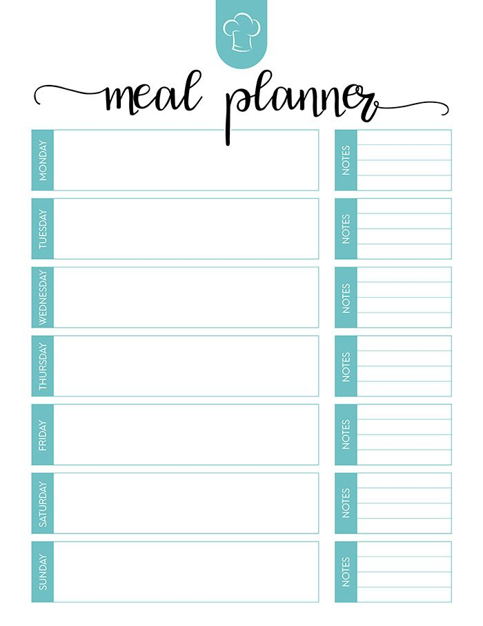 Free Printable Meal Planner Set With Images Meal Planner