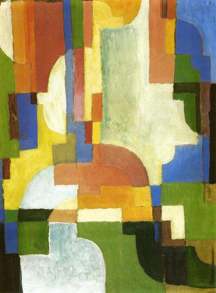 アウグスト・マッケ 「色彩のフォルムⅠ」 1913 | 53.1x38.5cm |ミュンスター、ヴェストファーレン州立美術館