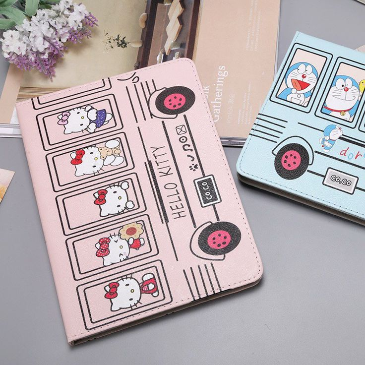 Case with cute pictures of Doraemon or Hallo Kitty for inch