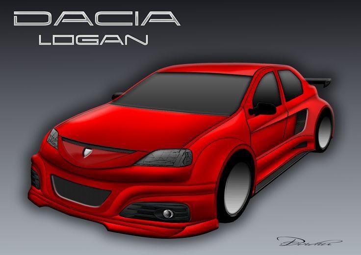 Dacia  Logan by ovidiuart.deviantart.com on @DeviantArt