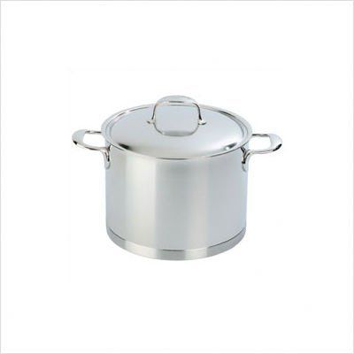 "Bundle-54 Atlantis 8.5-Quart Deep Stockpot with Lid (2 Pieces) by Demeyere. $494.90. [***INCLUDED IN THIS SET: (1)Atlantis 8.5-Quart Deep Stockpot with Lid, (1)Atlantis 9.4"" Pasta Insert] Features: -Seven layer capsule base.-Copper base allows for even heat distribution.-Can be used in the oven.-Can be used on conventional cookers (gas or electric).-Also suitable for high-light, AGA and ceramic induction cookers.-Solid, cast 18/10 stainless steel handles.-Handle..."
