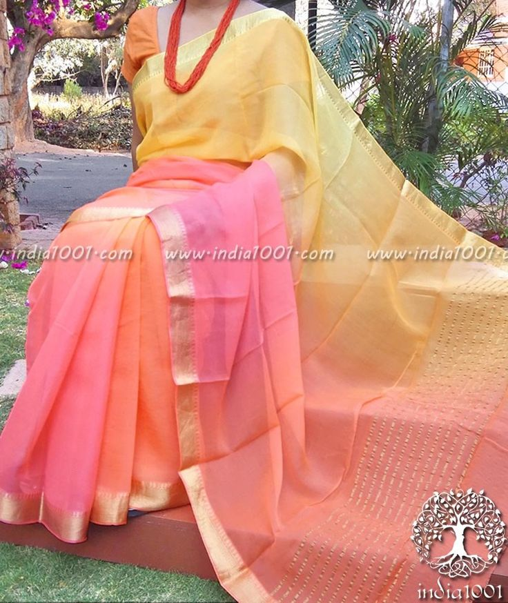 Designer Chiffon Saree with Multi Hue Finish & Zari border