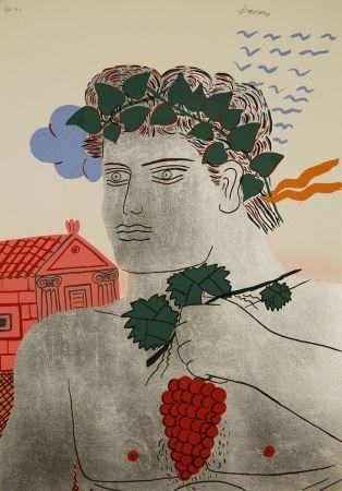 Screenprint - Alecos Fassianos - Dionysos, 2003