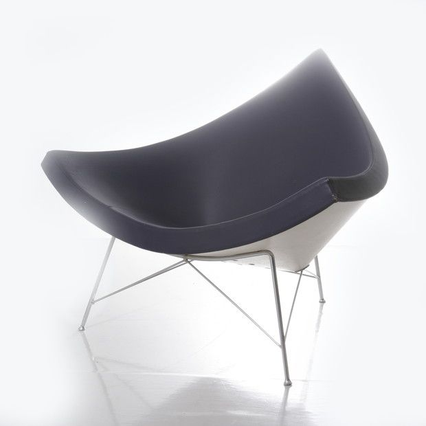 Another modern classic is the Coconut Chair by George Nelson who began designing furniture for Herman Miller in the 60′s. This iconic design resembles a coconut and is super comfortable to lounge in