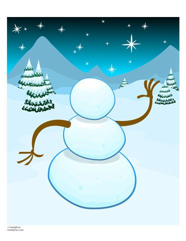 Build Your Own Snowman | Printables | Spoonful