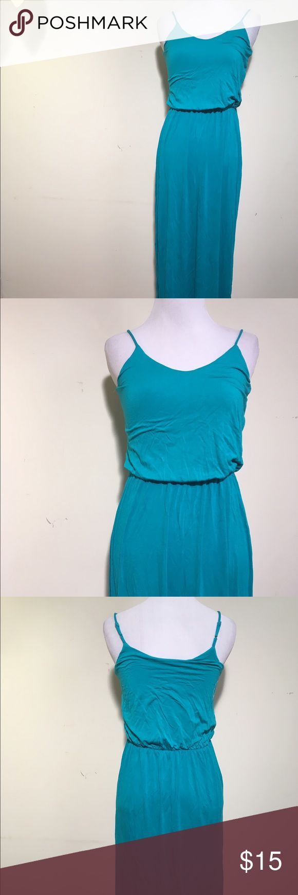 "Urban outfitters; Lush maxi dress Pretty long maxi dress. It is a blue/green color. The bust is 28"" and the waist is 20"" ~ adjustable because the waist is elastic. The length is 54"". The fabric is in really good condition; looks unworn. Urban Outfitters Dresses Maxi"