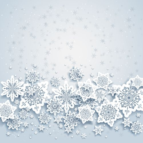 Beautiful snowflakes christmas backgrounds vector 02 - Vector Background free download