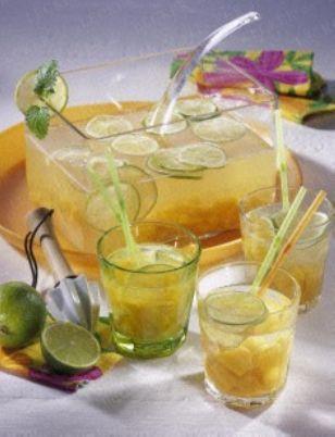 Pfirsich-Caipirinha-Bowle Rezept
