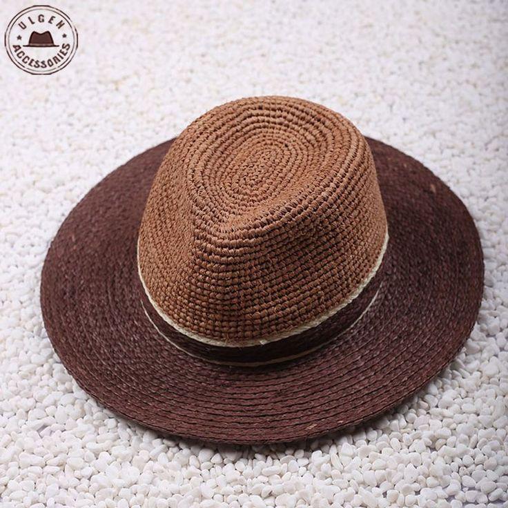 Высокое качество мужской летней рафии соломенная шляпа кул джаз панама Fedoras…