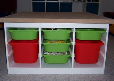 this is what I am wanting for my laundry room....a little taller and longer and it will be perfect: Plays Tables, Play Table, Crafts Tables, Trofast Frames, Ikea Hackers, Lego Storage, Storage Ideas, Lego Table, Kids Rooms