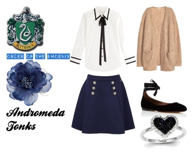 """""""andromeda tonks"""" by marauderslife on Polyvore featuring Marc Jacobs, H&M, Tommy Hilfiger, Tabitha Simmons, Accessorize and Kevin Jewelers"""