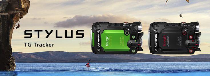 オリンパスのコンパクトデジタルカメラ TG-Trackerの紹介ページです。