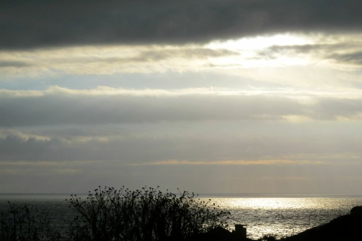 the sea in a cloudy autumn fall day #sunset at the sea #cloudy sky and sea