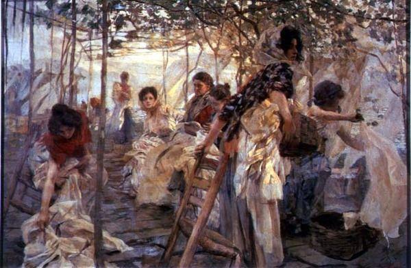 Laundresses, 1903 by Ettore Tito