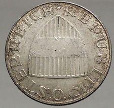 1966 Austria Wachau Woman 10 Schilling Silver Austrian Coin with Shield i56715